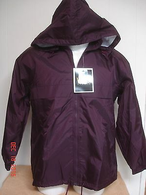 NEW w/tags Vos Sport  Windbreaker Rain Jacket LINED/HOODED Size L 16-18 YOUTH