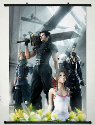 Home Decor Anime Final Fantasy Wall Scroll Poster Fabric Painting Key Roles