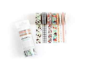 American Crafts Hazelwood Canoe Washi Tape, 8 rolls scrapbooking planner