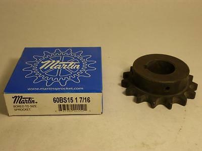 """137992 New In Box, Martin 60BS15-1-7/16 Sprocket #60 15T 1-7/16"""" Bore"""