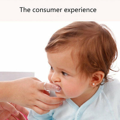 Baby Kid Soft Silicone Finger Toothbrush & Gum Massager Brush Clean Teeth I6