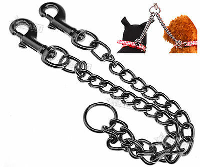 New Ancol Double Dog Coupler Lead Twin Leash Walk 2 Dogs Black Bungee Chain