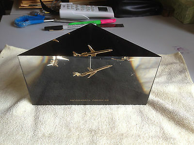 McDonnell Douglas Lucite Paperweight Bookend MD80 Employee Award