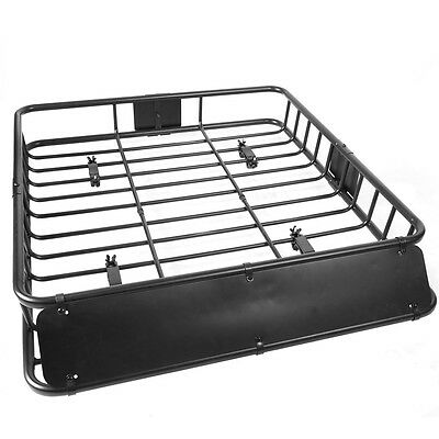 45996c0a7df1 BLACK UNIVERSAL ROOF Rack Cargo Car Top Luggage Holder Carrier Basket  Travel SUV