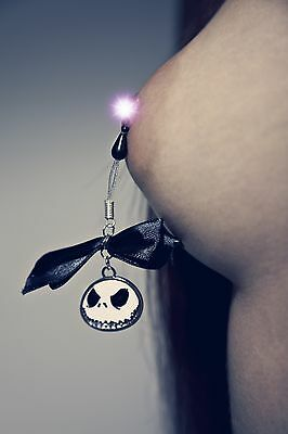 Nippleicious non piercing nipple jewelry Adjustable Nipple Ring Jack Skellington