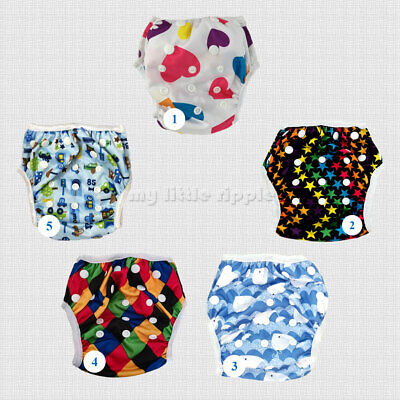 Swimming Diapers Nappy Pants for babies and toddlers - Washable Adjustable