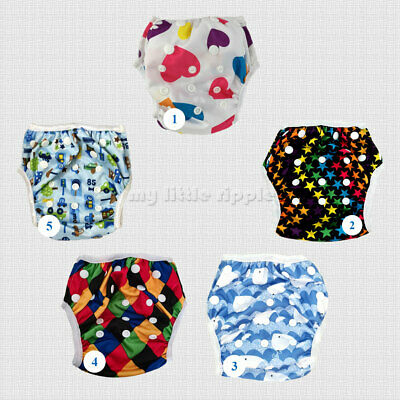 Swimming Nappy Pants for babies and toddlers - Reusable Washable Adjustable