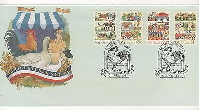 Australia 1987 AGRICULTURAL SHOWS  First Day Cover  FDC  10/4/1987