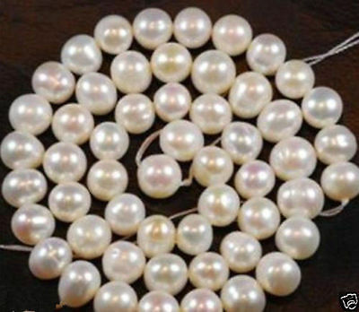 """7-8mm White Akoya Freshwater Pearl Loose Beads 15"""" A1"""