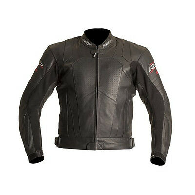 RST Blade 1055 Leather Motorcycle Motorbike Armour Jacket Black Size UK 42