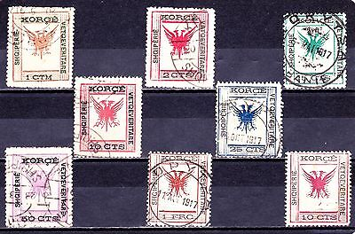 ALBANIA 1917 Collection Mint/Used.