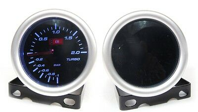 Smoked 52mm Turbo Boost Gauge 2 Bar Audi BMW Skoda Diesel (SM/STH)