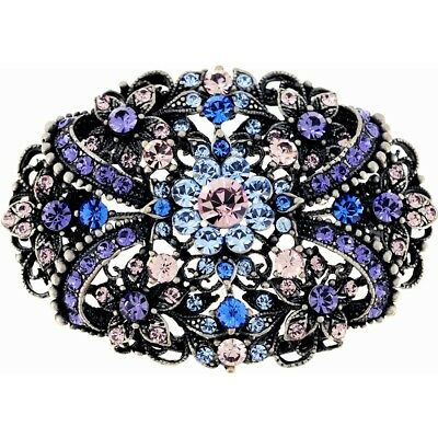 Multicolor Purple  .   Crystal Flower Pin Brooch and Pendant. Shipping Included