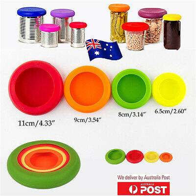 Farberware Assorted Food Huggers 1 Pack Set of 4 Silicone Eco Kitchen BO