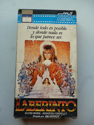 rare 1986 VHS LABYRINTH JIM HENSON DAVID BOWIE PAL-N Video ARGENTINA Edition