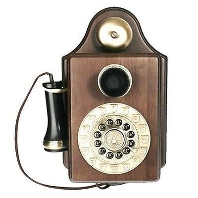 Wooden Telephone Works Wall Rare Phone Antique Vintage  Reproduction Country Vtg