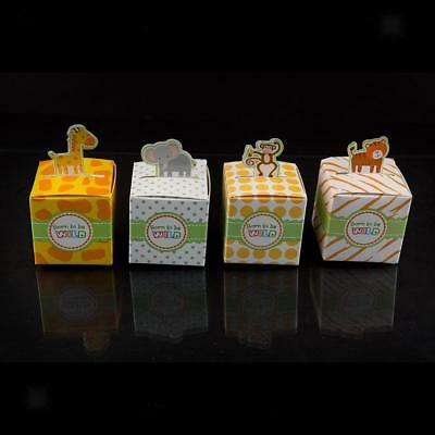 50 x Animals Candy Boxes Birthday Party Baby Shower Favor Gift