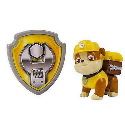 Paw Patrol Action Pack Pup & Badge Shield Dog Backpack Projectile Toy-Rubble