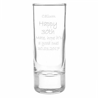 Custom Shot Glass - 30th Gifts For Him