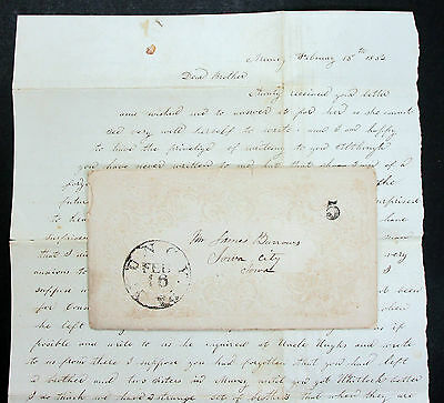 US Stampless Cover Letter 1852 - USA Vorphila Brief (L-1620