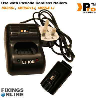 1 x Replacement lithium battery & Complete charger for paslode (complete set)