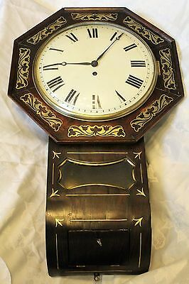 Antique fusee drop dial clock convex dial
