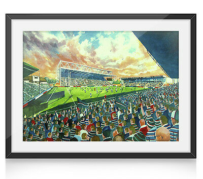 Welford Road Stadium Art A4 Framed Print - Leicester Tigers RUFC