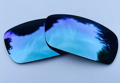 Polarized Powder Blue Custom Mirrored Replacement Oakley Gascan Lenses