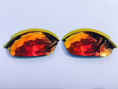 Polarized Fire Red Custom Mirrored Replacement Oakley Romeo 2.0 Lenses