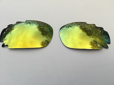 REPLACEMENT 24k GOLD MIRRORED VENTED OAKLEY JAWBONE & RACING JACKET LENSES