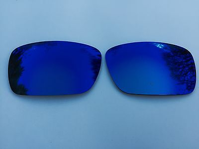 New Polarized Deep Sea Blue Mirrored Replacement Oakley Fuel Cell Lenses