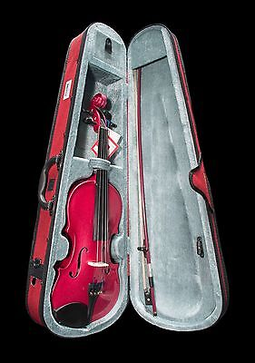 Cremona SV130 4/4 Violin Outfit In Rose With Case And Bow !