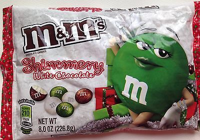 NEW Christmas White Chocolate Shimmery M&M's Limited Edition M&Ms