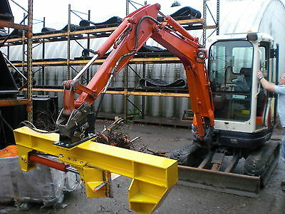 Log Splitter Attachment For 2.5 To 5 Tonne Mini Digger / Excavator
