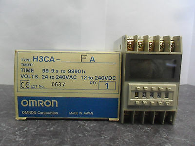 New Omron H3CA-FA Solid State Timer 50/60Hz NIB