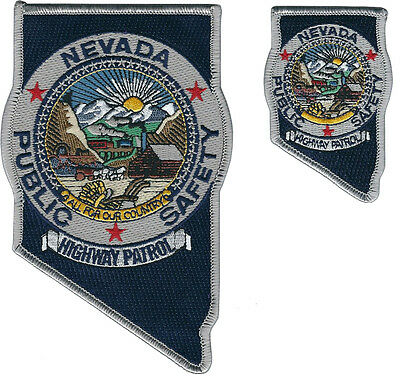 Nevada Highway Patrol Shoulder Patch and Hat Patch - NEW
