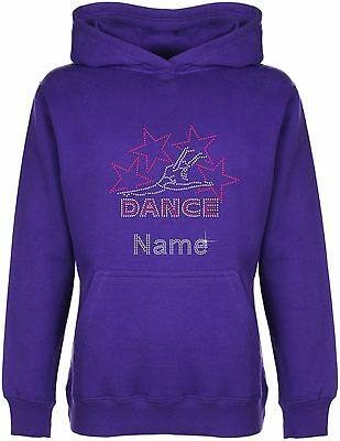 Personalised Dance with Stars Rhinestone Diamante Embellished Hoodie Gift  Girls