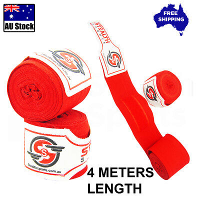 Boxing Hand Wraps Mma Inner Gloves Red Fist Protector Bandages Wrist Guards