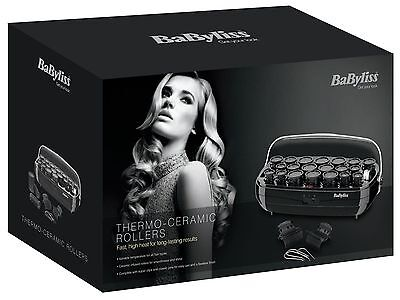 Babyliss Thermo-Ceramic Rollers Curlers Roller Set Black High Heat-3045U New