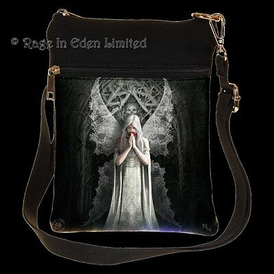 *ONLY LOVE REMAINS* Gothic Angel Art Shoulder Bag By Anne Stokes
