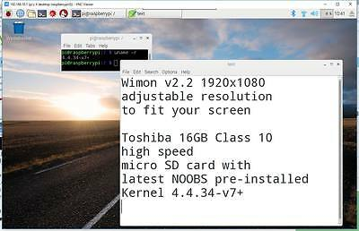 1920x1080 WiMon Wireless Monitor Solution kit for Raspberry Pi 3, Pi 2 and B+