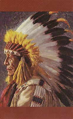 Native American Sioux Indian Chief Yellowshield artist Henry C. Balink Postcard