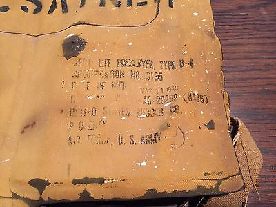 WW2 Issue Air Force / US Army Type B-4 Mae West Vest/ Life Preserver 1943 NAMED