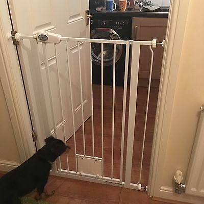 Pet Gate with Cat Flap Extra Tall Dog Barrier Door Way Stairs Training Bettacare