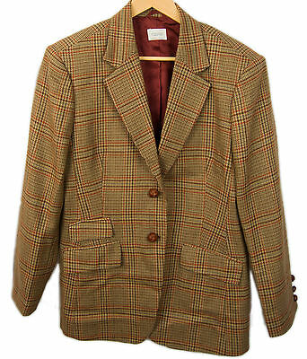 Vintage United Colors of Benetton Wool Lined Blazer Coat Sz 46 EU US-12