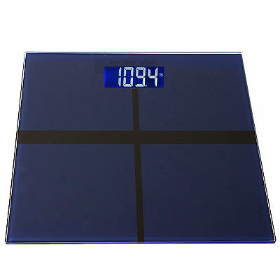 400lb LCD Digital Bathroom Body Weight Scale Tempered Glass+Batteries