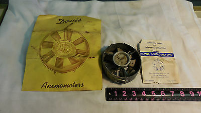 VINTAGE ANEMOMETER WIND SPEED GAS FLOW BY DAVIS INSTRUMENTS no glass on guage
