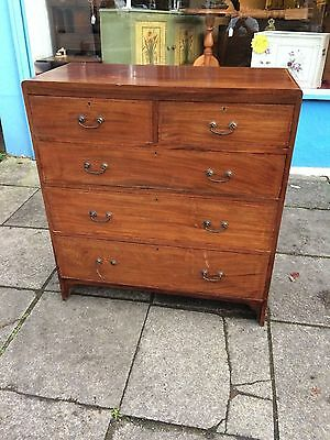 Solid mahogany inlaid chest of 5 drawers #1310C