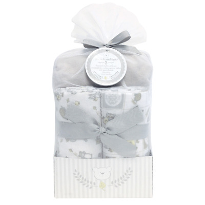 Deluxe flannel baby fitted crib sheet w 2 receiving blankets Piccolo Bambino
