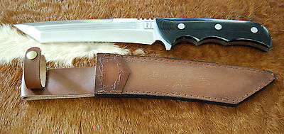 36Cm Knife Full Tang Tanto Blade Micarta Handle- Hand Made -Brand New-8Mm Thick